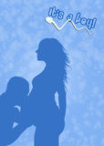 Couple expecting a baby. Illustration of couple expecting a baby Stock Photo