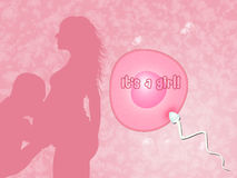 Couple expecting a baby. Illustration of couple expecting a baby Royalty Free Stock Photos