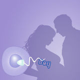 Couple expecting a baby. Illustration of couple expecting a baby Stock Images