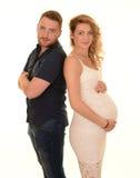 Couple expecting baby portrait Stock Photo