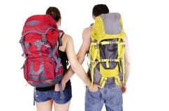 Couple in expedition Stock Photos