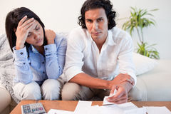 Couple experiencing financial problems Stock Photo