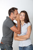 Couple expressions Royalty Free Stock Photos