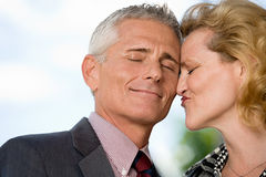 Couple with eyes closed Royalty Free Stock Photography