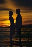 couple face silhouette standing to στοκ φωτογραφίες με δικαίωμα ελεύθερης χρήσης