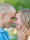 Couple Face to Face Stock Photography