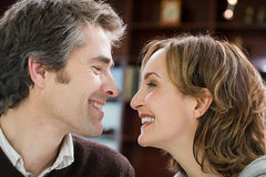 Couple face to face Royalty Free Stock Images