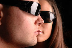Couple faces Stock Images