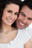 Couple with faces touching Royalty Free Stock Images