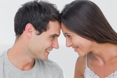 Couple facing each other Stock Image