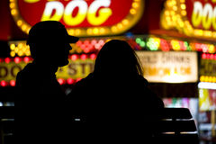 Couple at a fair Stock Photo