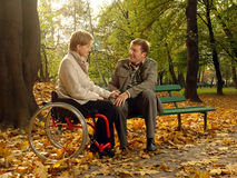 Couple in the fall park
