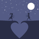 Couple falling in love Stock Images