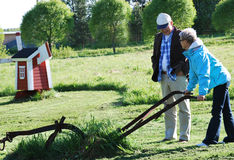 Couple on a farm Stock Image