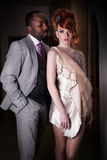 Couple fashion dressed people standing Stock Photos