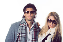 Couple of fashion models royalty free stock image