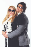 Couple of fashion models Royalty Free Stock Images