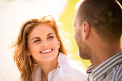 Couple feeling good together Stock Photography