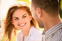 Couple feeling good together Royalty Free Stock Photo