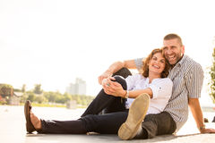 Couple feeling good together Royalty Free Stock Photography