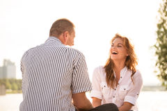 Couple feeling good together Royalty Free Stock Photos