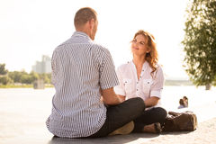Couple feeling good together Royalty Free Stock Images