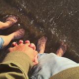 Couple feet Royalty Free Stock Image