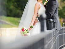 Couple at Fence Stock Photos