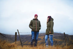 Couple by Fence Royalty Free Stock Images