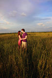 Couple in Field Royalty Free Stock Photos