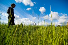 Couple In Field 2 Stock Image