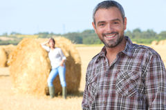Couple in a field Stock Photo