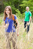 Couple in a field of wheat Stock Photo
