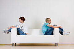 Couple after fight Stock Images