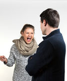 Couple in fight stock photo