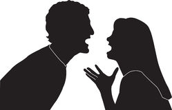 Couple Fighting. This is a  illustration of two people fighting and yelling at each other Stock Image