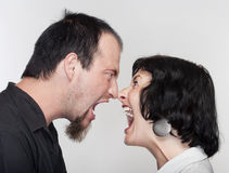 Couple fighting Royalty Free Stock Photography