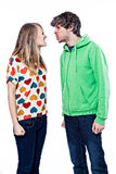 Couple fighting Royalty Free Stock Image