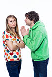 Couple fighting Stock Photo