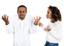 Couple fighting Stock Image