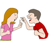 Couple Fighting. An image of a couple fighting Stock Photos