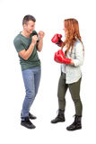 Couple fighting Stock Photography