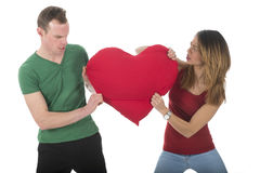 Couple fighting for love Stock Photos