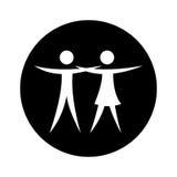 Couple figure silhouette icon Stock Photos