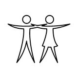 Couple figure silhouette icon Stock Images