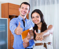 Couple filling marriage application form Royalty Free Stock Images