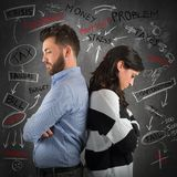 Couple financial problem Stock Photos