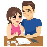 Couple Financial Problems Royalty Free Stock Image