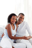 Couple finding out results of a pregnancy test Stock Photography