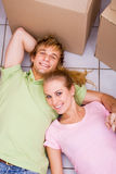 Couple first home Royalty Free Stock Images